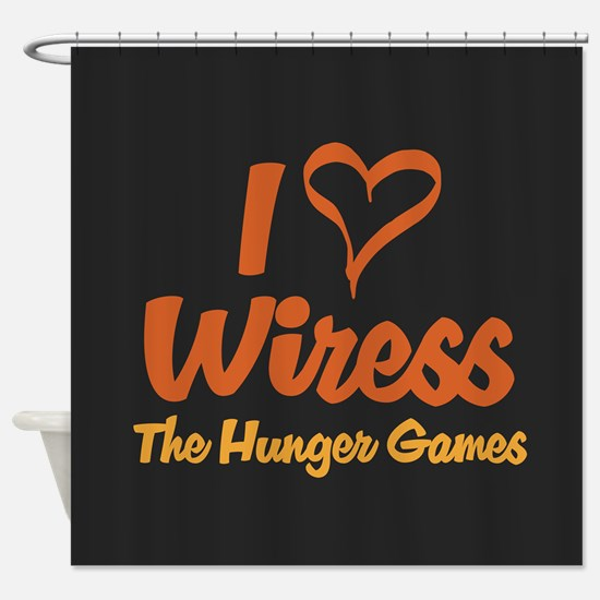 I Heart Wiress Shower Curtain
