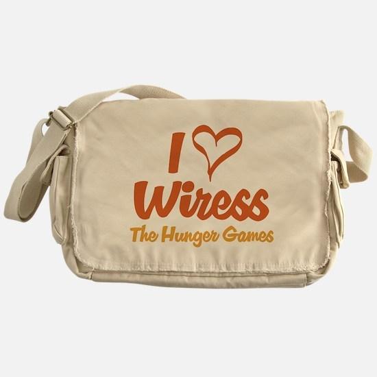 I Heart Wiress Messenger Bag
