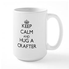Keep Calm and Hug a Crafter Mugs