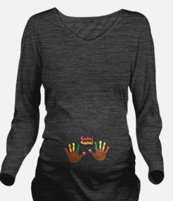 Cute Baby Turkey Long Sleeve Maternity T-Shirt