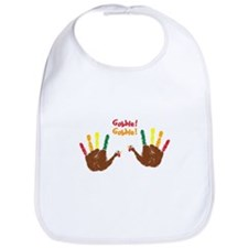 Cute baby Turkey hands Gobble! Gobble! Bib