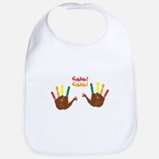 Cute baby Turkey hands Gobble! Gobble! Bib