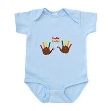 Cute baby Turkey hands Gobble! Gobble! Body Suit