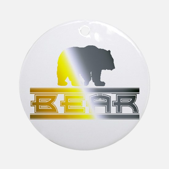 Bear Pride Bear Ornament (Round)