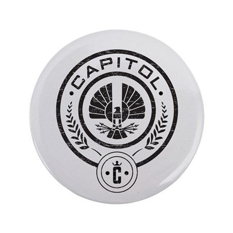 "Vintage Hunger Games Capitol 3.5"" Button"
