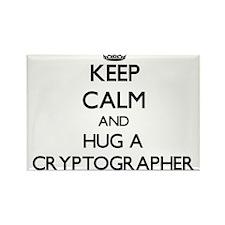 Keep Calm and Hug a Cryptographer Magnets