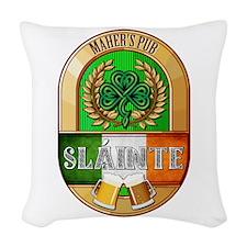 Maher's Irish Pub Woven Throw Pillow