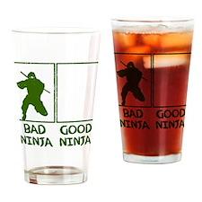 Bad Ninja Good Ninja Drinking Glass