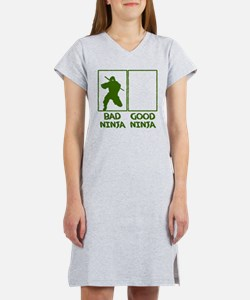 Bad Ninja Good Ninja Women's Nightshirt