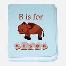 B Is For Bison baby blanket