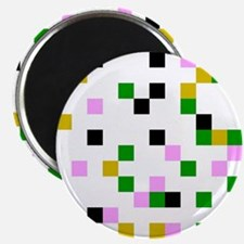pixel white Magnets