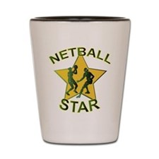 Netball Star Shot Glass