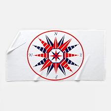 Compass Rose Beach Towel