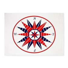 Compass Rose 5'x7'Area Rug