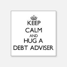 Keep Calm and Hug a Debt Adviser Sticker