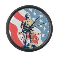 Minute Man Veterans Large Wall Clock