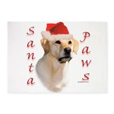 LabyellowPaws.png 5'x7'Area Rug