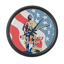 Tea Party Patriot Large Wall Clock