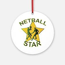 Netball Star Ornament (Round)