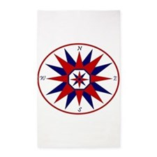 Compass Rose 3'X5' Area Rug