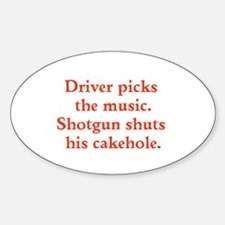 Driver picks the music Decal