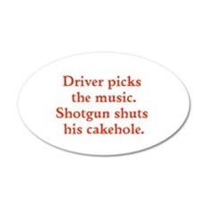 Driver picks the music Wall Decal
