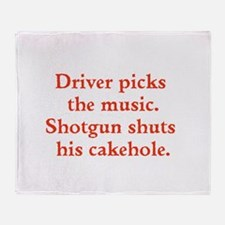 Driver picks the music Throw Blanket