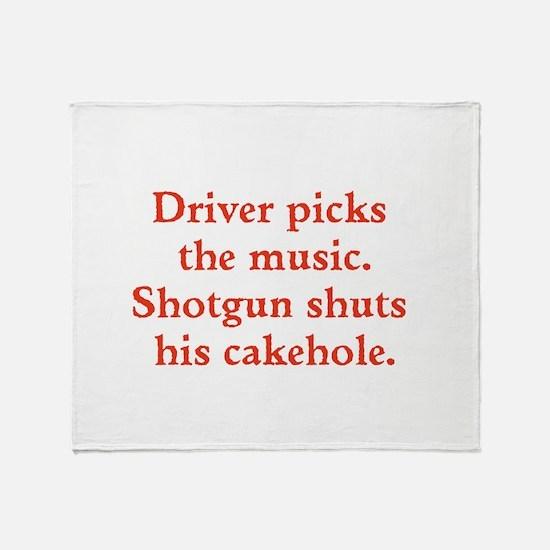 Driver picks the music Throw Blanket