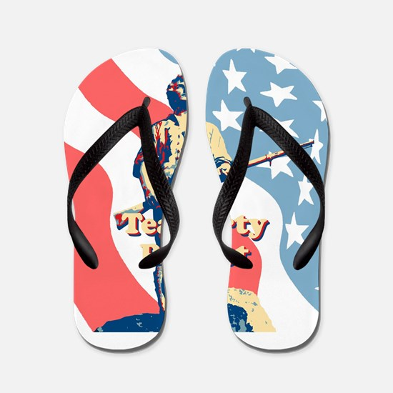 Tea Party Patriot Flip Flops