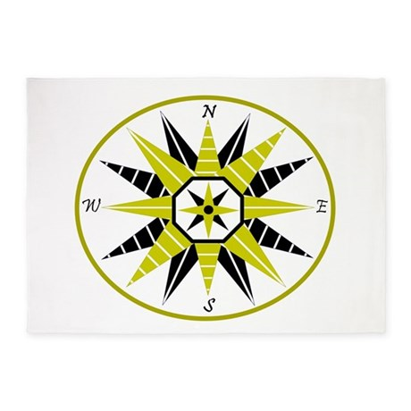 Compass Rose 5'x7'Area Rug