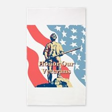 Honor Our Veterans 3'x5' Area Rug