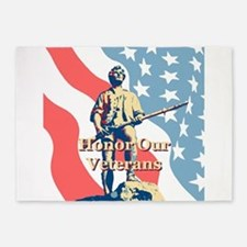 Honor Our Veterans 5'x7'Area Rug