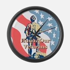 Honor Our Veterans Large Wall Clock