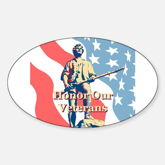 Honor Our Veterans Sticker (Oval)