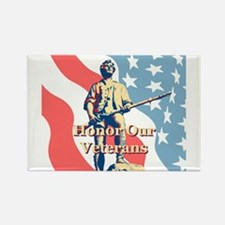 Honor Our Veterans Rectangle Magnet (10 pack)