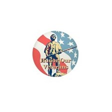 Honor Our Veterans Mini Button (10 pack)