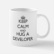 Keep Calm and Hug a Developer Mugs