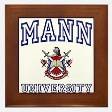 MANN University Framed Tile