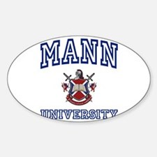 MANN University Oval Decal