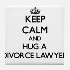 Keep Calm and Hug a Divorce Lawyer Tile Coaster