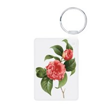 Vintage Flowers Camellias  Keychains