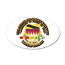 15th Supply and Service Bn w SVC Ribbon Wall Decal