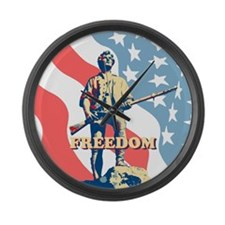 Minute Man Freedom Large Wall Clock