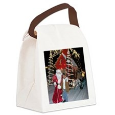 Santa and Jack Canvas Lunch Bag