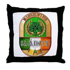 McLoughlin's Irish Pub Throw Pillow