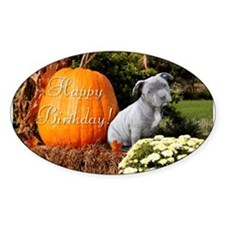 Happy Birthday Pitbull puppy Decal