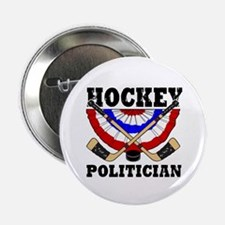 Hockey Politican Button