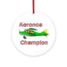 Aeronca Champion Ornament (Round)
