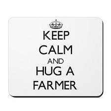 Keep Calm and Hug a Farmer Mousepad