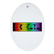 gay pride bear Oval Ornament